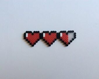 Zelda heart meter cake accessory/magnet, Video gamer, geek gift