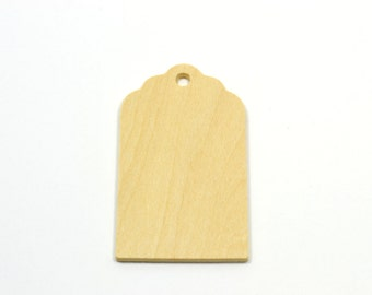 75 Wooden Fancy Memory Gift Tags-Natural Unfinished Hand Tags-Wedding Favors-Memory Tags-Wedding Gift Tags