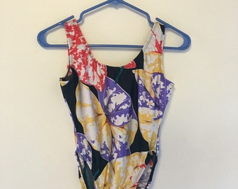 1980s One Piece Swimsuit