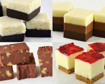Gourmet Fudge Sampler -1 lb Gift Fudge, Creamy Homemade Fudge, Gift, Holiday, Birthday
