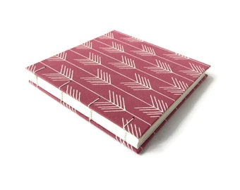 "5"" SQUARE Album for INSTAGRAM prints, Coptic binding, PORTIA • Photo album • Pages lie flat • Book for photo prints • Square photo book"