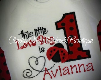 THIS LITTLE LOVE Bug Is Birthday Tee