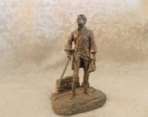 Vintage Militiaman Pewter Small Statue (1460)