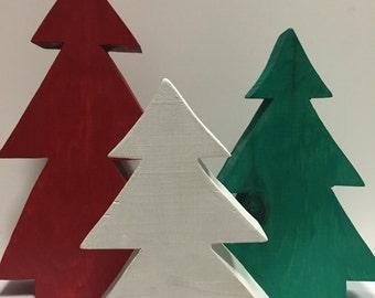 Wood Christmas trees, tabletop Christmas tree, Christmas decorations, wooden Christmas tree, wood trees, Christmas decor, Holiday ornaments