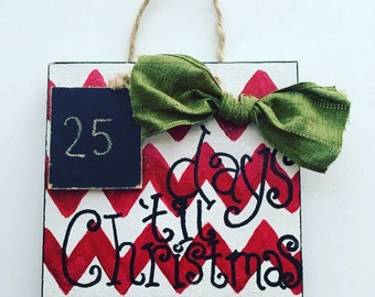 Days til Christmas, Christmas decor, Christmas countdown, Chevron Christmas, chalkboard, Christmas gift, Xmas decor, Christmas decorations