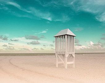 Beach photography Florida Atlantic Coast nautical art decor blue green 8x10 fine art print