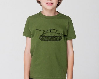 KillerBeeMoto: World War 2 M4 Sherman Tank Short & Long Sleeve Shirts Cartoon Version