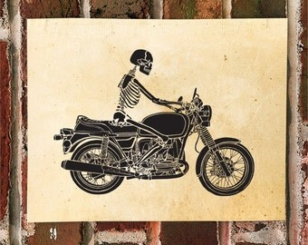 KillerBeeMoto: Limited Print Death Riding A Motorcycle 1 of 50
