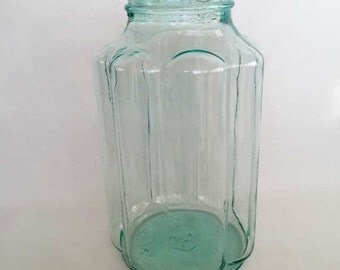 Vintage 1950's Glass Daisy Vase