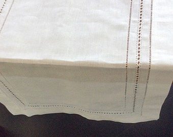 Table Runner Linen Hemstitched, double