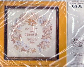 Creative Circle Wedding Remembrance 0835 Embroidery Kit Personalize New in Package