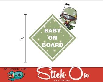 Boba Fett Baby on Board Sticker