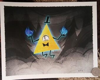 """8x10"""" Bill Cipher Gravity Falls fine art print"""