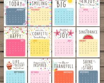 Interesting Printable Desk Calendar 2016 Download Diy Intended Decorating Ideas