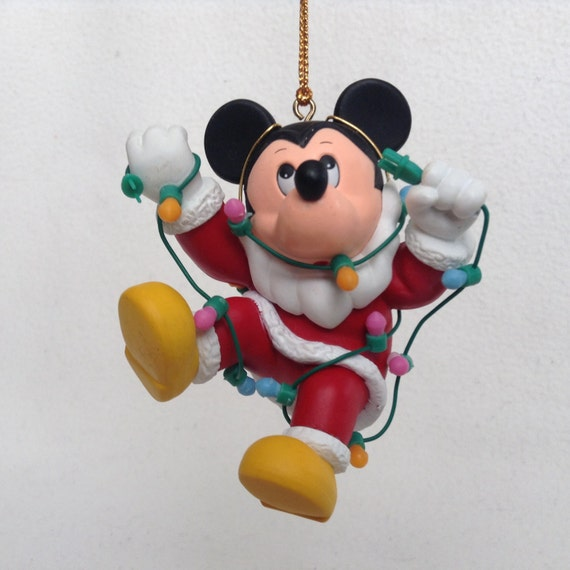 S mickey mouse christmas ornament collectible holiday