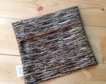 Wood Print Reusable Snack Bag