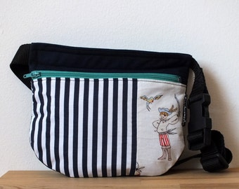 Summer fanny pack, pirates kids bag, small belt bag, boys bum bag