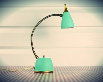 Vintage 1960s Mint Green Mid Century Desk Lamp by Hi-Lite in Working Condition...