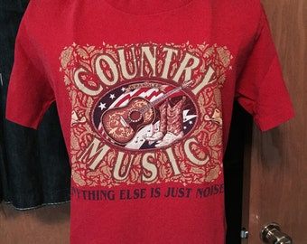 """Anything Else Is Just Noise"""" Wrangler Country Music Vintage T-Shirt Women's EXTRA Small"""