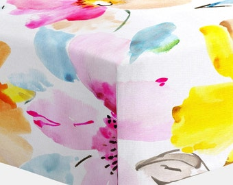 Girl Baby Bedding : Watercolor Floral Crib Sheet by Carousel Designs