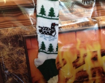Green loon stocking