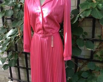 Hot pink vintage day dress