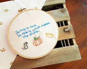 Disney Embroidery: Cinderella