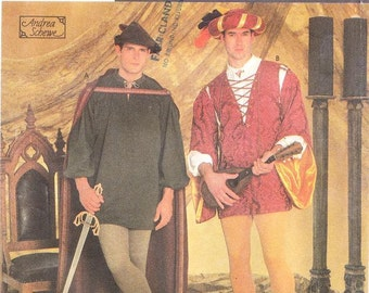 Simplicity 7761 Men's Medieval Costume Pattern, XS-XL