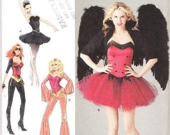Simplicity 2067 Misses' Ballerina, Disco Costumes Pattern, 6-12