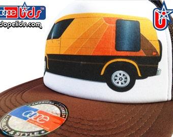 smART-patches 79seventy Vintage Style 70's 80's Custom Shaggin' Van Trucker Hat Cap