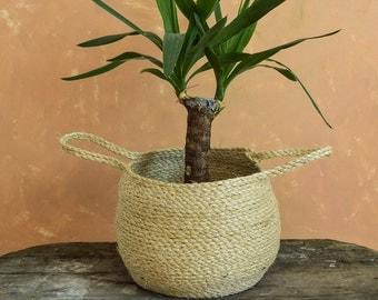 Storage basket, Sisal basket, Belly basket, Rope basket , Pot plant basket planter