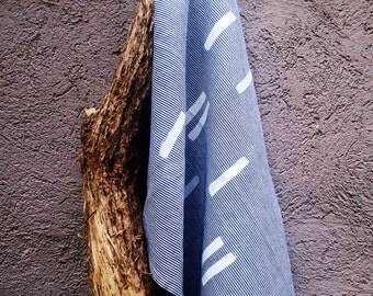 SALE  - 30% Stripe hand printed teatowel
