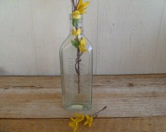 Dr Miles Clear Glass Bottle Vintage