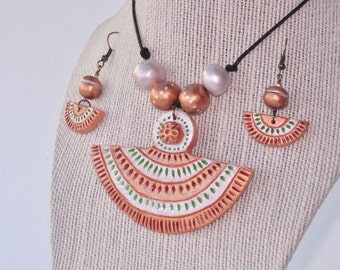 Terracotta necklace , Indian jewelry, Terracotta jewelry