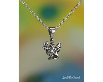 """Tiny Sterling Silver Hen Chicken Necklace 16-24"""" or Pendant Only .925"""