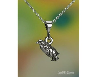 "Sterling Silver Small Penguin Necklace 16-24"" Chain or Pendant Only"