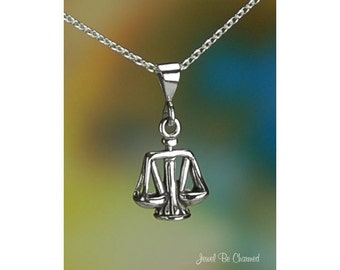 Little Scales of Justice Sterling Silver Necklace or Pendant Only .925