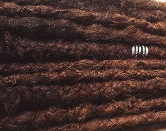 Human Hair Dark to Chocolate Brown Ombre Dreadlocks