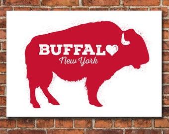 Buffalove, Buffalo New York, Art Print