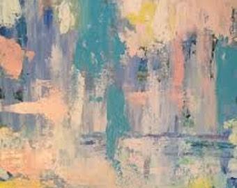 Rainy Day 1, 18x24 Abstract Original Painting