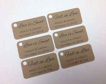 Personalized Wedding favor tags, wedding favour tags rustic favour tags.  Small favour tags, small favor tags.