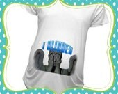 BR-02 Weeping Angel Baby bump shirt Maternity or T-Shirts Christmas Gift Baby Shower Gift