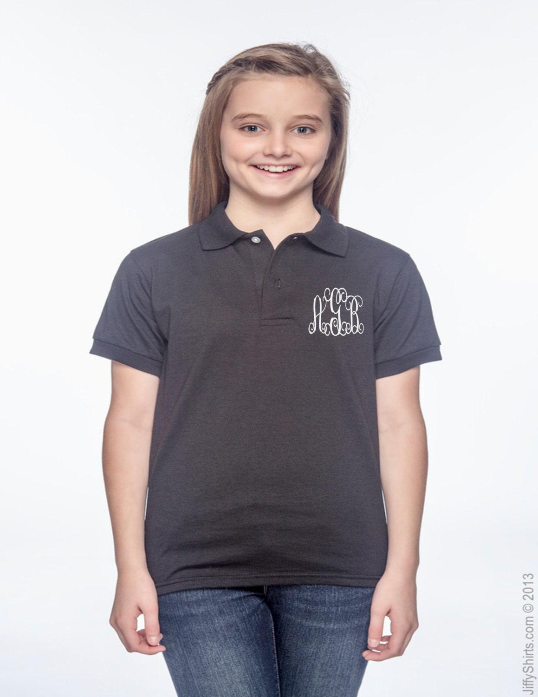 Kids Monogrammed Polo T Shirt Monogram T Shirt Free Monogram