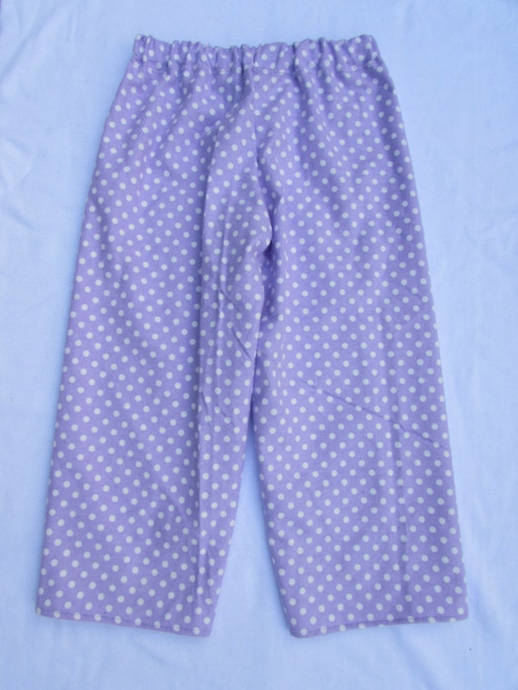Flannel pajama pants /mommy and me pajamas/ girls Flannel pajamas/women's Flannel pajamas/polka dot / 4 colors/ sizes 6 mon to xxl women