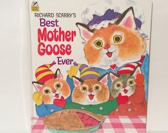 Vintage Richard Scarry's Best Mother Goose Ever Hardcover Nursery Rhymes Book