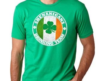 Saint Patrick's Day T-Shirt Ireland Green T-Shirt Irish Shenanigans Shamrock Clover