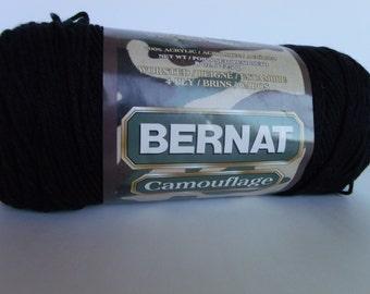 Bernat Yarn, Bernat Camouflage, Bernat Camouflage Black, Black Camouflage Yarn, Bernat Bulls Eye Black, Camouflage Yarn, Bulls Eye Yarn