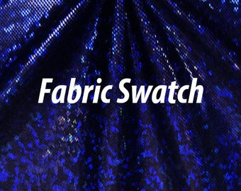 Hologram Fabric Shattered Glass Hologram Royal Blue on Black Four way Stretch Fabric Item# RXPN-RYLBLK-SWATCH -Fabric Swatch