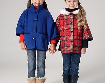 Sewing Pattern- Girls Jacket Pattern, Jacket to Sew in Two Views, Jacket with Hood, and Jacket without Kwik Sew #K4130