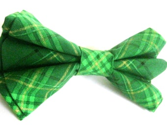 Green dog bow tie Collar bow tie Pet  bow tie